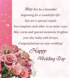 52 happy wedding wishes for on a card in 2018 birthday wishes marriage congratulation message bing images m4hsunfo