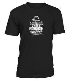 I'm A July Woman  Funny july woman T-shirt, Best july woman T-shirt