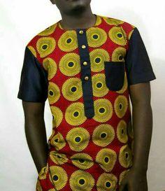 Ankara Xclusive: Top 15 Ankara styles for guys in 2018 African Wear Styles For Men, Ankara Styles For Men, African Shirts For Men, African Dresses For Kids, African Attire For Men, African Clothing For Men, African Inspired Fashion, African Print Fashion, Africa Fashion