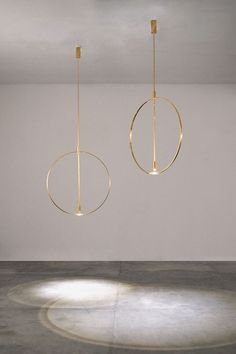 LUXURY LAMPS | Suspensions Ceiling (Studio Formafantasma). Gold chandeliers with minimal design | www.bocadolobo.com: