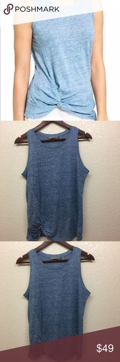 Athleta Knot Zephyr Linen Blue Tank Size Small Athleta Knot Zephyr Linen Blue Tank Size Small  NWOT Athleta Tops Tank Tops