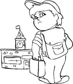 First Day of School, : A Grumpy Boy on His First Day of School Coloring Page School Coloring Pages, Online Coloring Pages, Color Activities, School Colors, One Day, Coloring For Kids, First Day Of School, Colorful Pictures, Coloring Sheets
