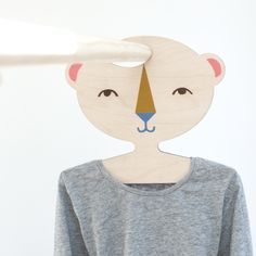 Childs' Plywood Bear Shaped Clothes Hanger by Red Hand Gang, the perfect gift for Explore more unique gifts in our curated marketplace. Birch Ply, Plywood, Laser Cutting, Kids Bedroom, Clothes Hanger, Screen Printing, Unique Gifts, Nursery, Shapes