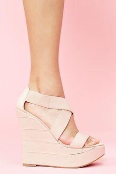 Baby Pink Wedges #shoes, #women, #pinsland, https://apps.facebook.com/yangutu