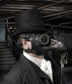 Leather Masks: Plague Doctor, Steampunk and Fashion by TomBanwell