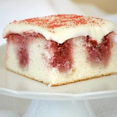 Strawberry And Cream Cheese Cake With Scone Pieces