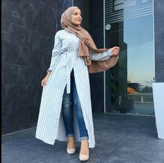 35 Ideas style hijab casual outer for 2019 Indian Fashion Modern, Modern Hijab Fashion, Muslim Fashion, Modest Fashion, Women's Fashion Dresses, Skirt Fashion, Casual Hijab Outfit, Hijab Chic, Stylish Hijab
