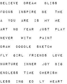 Dana's Inspirations: Freebie Art Journaling Words