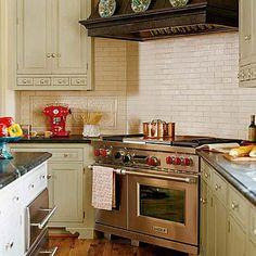 103 Best la maison bijou images | Kitchen armoire, New kitchen ... Corner Gas Stove In Kitchen on pellet stoves in corners, cabinets in corners, wood burning stoves in corners,