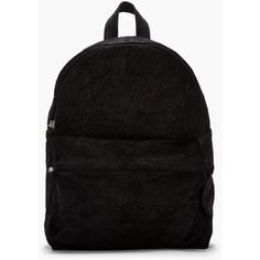 SILENT BY DAMIR DOMA Black Crinkled Nubuck Leather Broto Backpack ($486) ❤ liked on Polyvore featuring bags, backpacks, accessories, bolsas, sac, hardware bag, zip bag, zip handle bags, backpack bags and padded backpack