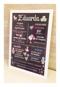 Chalkboard chá de bebé