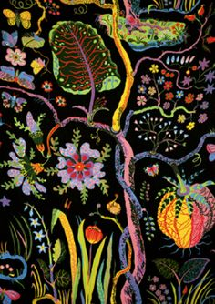 Svenskt Tenn's textiles are well known for their design and colourful prints. Josef Frank designed about 200 prints for textiles, wallpaper and carpets. Motifs Textiles, Textile Patterns, Print Patterns, Josef Franck, Poster Mural, Inspiration Art, Sketchbook Inspiration, Motif Floral, Floral Fabric