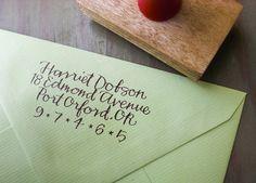 Custom caligraphy stamp