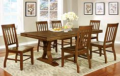 For a timeless appeal that will enhance the beauty of your #dining room, look no further than this transitional style inspired dining set. This set showcases a r...