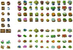 RPG Maker VX - Flowers and Pots by Ayene-chan on DeviantArt