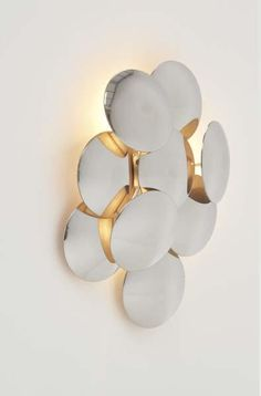 View Rare wall light by Studio Reggiani sold at Design on 13 Dec New York. Sconce Lighting, Cool Lighting, Modern Lighting, Lighting Design, Bathroom Lighting, Lamp Light, Light Up, Luminaire Applique, Deco Luminaire