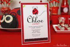 Hostess with the Mostess® - Ladybug Birthday Party // Ladybug