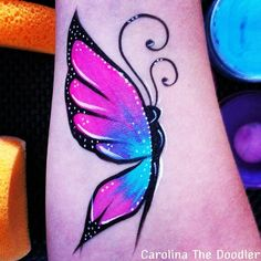 Butterfly Face Painting body art