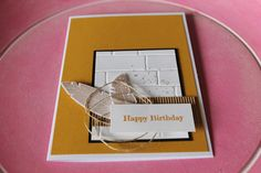 Stampin Up! Happy Birthday, Geburtstagskarte