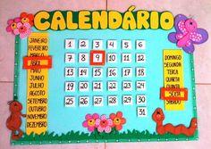 Painéis Calendário Escolar Em E.v.a