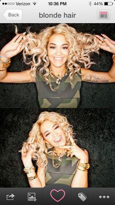 Rita Ora's hair