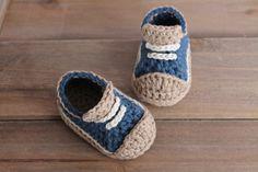 Crochet Pattern for Boys Booties Crete Sneaker by Inventorium