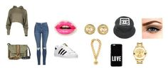 """""""Untitled #18"""" by shiyafrazierx on Polyvore featuring Topshop, adidas, Christian Dior, L'Autre Chose, Versace, Chanel, Givenchy and Movado"""