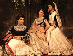 {Sabyasachi - Bridal Asia} Wow, royal indeed and love the familial portrait feel.