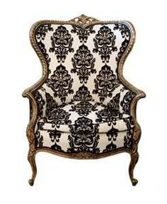 French wing chair