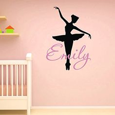 Wall Decals Vinyl Sticker Girls Name Ballerina Personalized Custom Decals Ballet Dance Studio Art Home Decor Girls Bedroom Nursery Dorm M020 #walldecals #monogram #vinylstickers #dancing http://www.amazon.com/dp/B00XWE7NJ2/ref=cm_sw_r_pi_dp_gTdyvb0RYN8PE