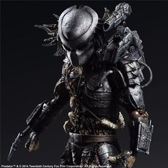 Enix's Play Arts Kai lineup takes on the Predator! Lavished with detail, this barbaric alien beast is equipped with what he needs to get the job done, and looks Alien Vs Predator, Predator Costume, Predator Action Figures, Predator Movie, Predator Figure, Lincoln, Kai, Photoshop Projects, Mighty Ape