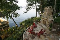 Image result for how to build an outdoor fireplace