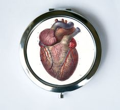 Anatomical Heart  Compact Mirror Pocket Mirror Medical by che655