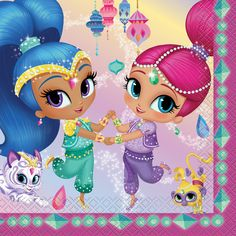 Check out Shimmer and Shine Lunch Napkin (16 Count) | Shimmer and Shine Themed Party Supplies from Birthday in a Box from Birthday In A Box
