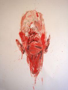 "Saatchi Online Artist: Nell Allen; Oil, Painting ""Head."""