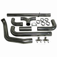 Stainless Steel 4 Turbo Back /& Downpipe Dual Smoker Exhaust System Kit For 1999-2003 Ford F250 F350 7.3L Turbo Diesel Powerstroke Pickup Truck