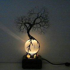 Great Accent Light! Bohemian Decor, Tree Of Light, Moon Light Lamp, Selenite Lamp, Moon Globe, Crystal Sphere, Sphere Light, Crystal Ball, Steampunk Interior