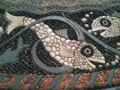 "Pebble Mosaic. ""Paradise Garden"". Maggy Howarth"
