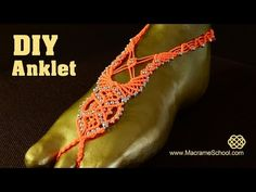 Macramé Barefoot Sandal Anklet with Beads [DIY] Tutorial. How to Make Knotted Barefoot Sandal Anklet with beads (Macramé video tutorial). DIY beautiful summer jewelry for the feet. See another Barefoot Sandal Tutorial here: . Please watch more Macrame Barefoot Sandals Crochet, Barefoot Sandals Tutorial, Macrame Jewelry, Macrame Bracelets, Diy Leather Sandals, Micro Macramé, Macrame Patterns, Bare Foot Sandals, Anklets