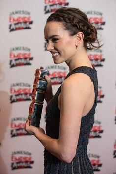 Daisy Ridley Wears A Soft Halo Braid To The Empire Film Awards