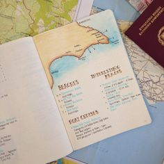 How to plan your holidays with your Bullet Journal. Packing Checklist and Trip I… How to plan your holidays with your Bullet Journal. Packing Checklist and Trip Itineray Spreads plus FREE Packing List Printable.