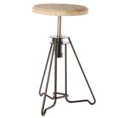 DK Living Iron and Rose Wood Piano Stool | Wayfair