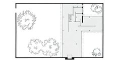 Mies_Van_Der_Rohe_Three-court_Courtyard__House_Plan Ludwig Mies Van Der Rohe, Architecture Plan, Architecture Details, Bauhaus, Palm Springs Houses, Houses Of The Holy, Courtyard House Plans, Casa Patio, Building Images