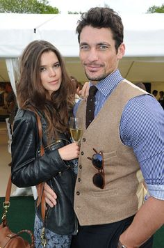 He's got a new gf. dammit. Sarah Ann and David at the polo, wearing clothes. Unfortunately