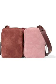 Anya Hindmarch - Stack Small Convertible Leather And Suede Shoulder Bag - Burgundy