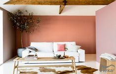 Color of the year 2015 // flexa Cozy Living Rooms, Interior Paint, Home Interior, Interior Design Living Room, Elle Decor, Color Terracota, Wall Paint Colors, House And Home Magazine, Color Of The Year