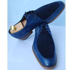 New Men Semi Handmade Great Marlborouch Street Blue Face Suede by Oscar Williams Shoemaker