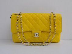 Yellow Chanel 2.55 handbag