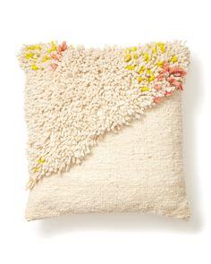 Split Shag Pillow