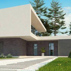 Zx70 to wyjątkowy dom z kategorii projekty domów z garażem jednostanowiskowym Arch House, Exterior, Style At Home, Home Fashion, House Design, Mansions, House Styles, Home Decor, Design For Home